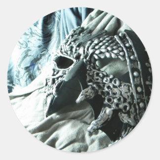 Vicioso de plata pegatinas redondas