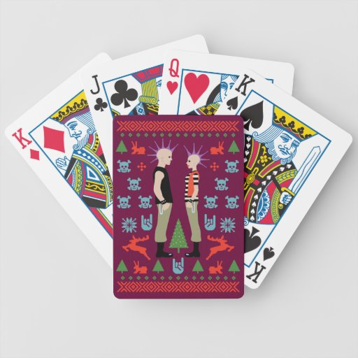 Vicious Christmas Bicycle Playing Cards