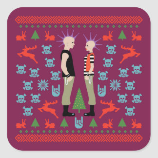 Vicious Christmas Square Sticker