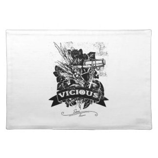 Vicious Fear Gun Shot Cloth Placemat