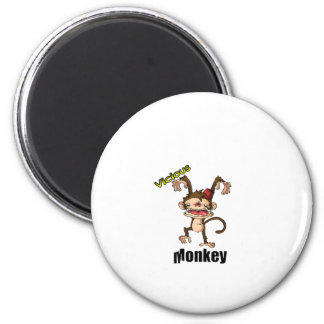 Vicious Monkey 2 Inch Round Magnet