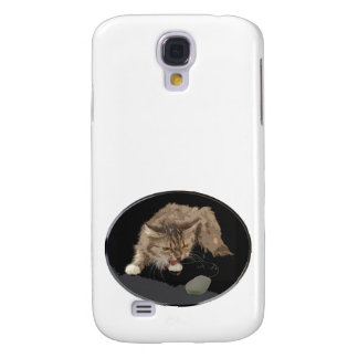 Vicious Tiger Kitty Stalks a Mouse Samsung Galaxy S4 Covers