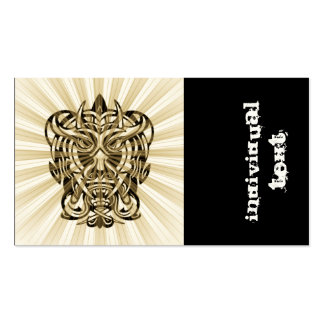 Vicious Tribal Mask 008 Double-Sided Standard Business Cards (Pack Of 100)