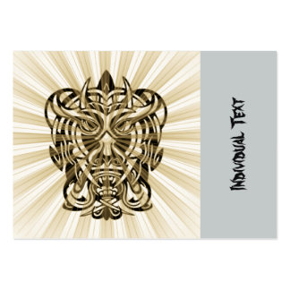 Vicious Tribal Mask 008 Large Business Cards (Pack Of 100)