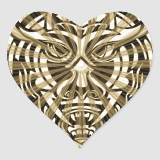 Vicious Tribal Mask 008 Heart Sticker