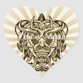 Vicious Tribal Mask 008 Heart Sticker