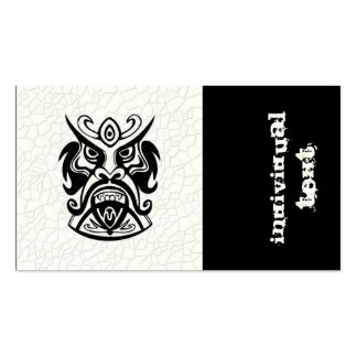 Vicious Tribal Mask B&W 006 Double-Sided Standard Business Cards (Pack Of 100)