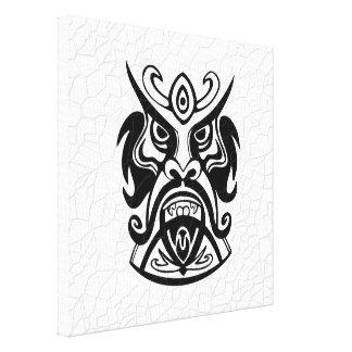 Vicious Tribal Mask B&W 006 Canvas Print