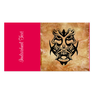 Vicious Tribal Mask Black grunge 002 Double-Sided Standard Business Cards (Pack Of 100)