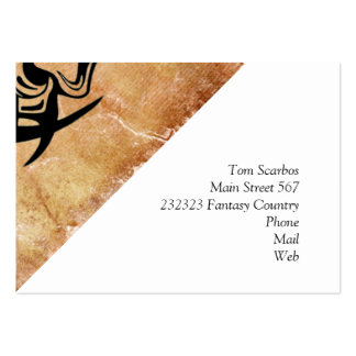 Vicious Tribal Mask Black grunge 002 Large Business Cards (Pack Of 100)