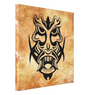 Vicious Tribal Mask Black grunge 002 Canvas Print
