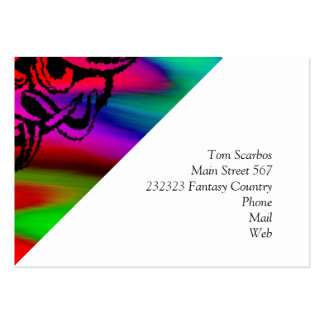 Vicious Tribal Mask Black rainbow 003 Large Business Cards (Pack Of 100)
