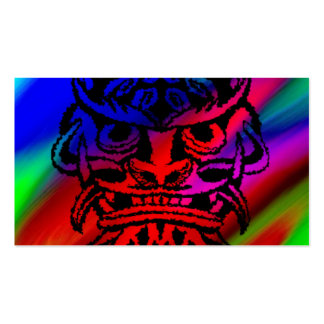 Vicious Tribal Mask Black rainbow 003 Double-Sided Standard Business Cards (Pack Of 100)