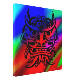 Vicious Tribal Mask Black rainbow 003 Canvas Print