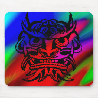 Vicious Tribal Mask,black rainbow 003 Mouse Pad