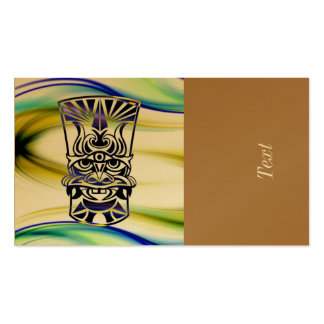 Vicious Tribal Mask blue 009 Double-Sided Standard Business Cards (Pack Of 100)