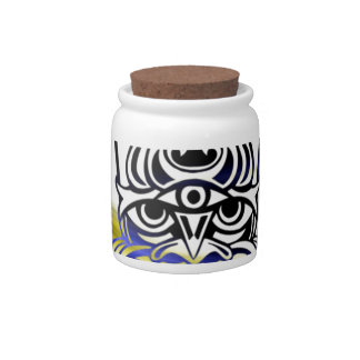Vicious Tribal Mask blue 009 Candy Dish