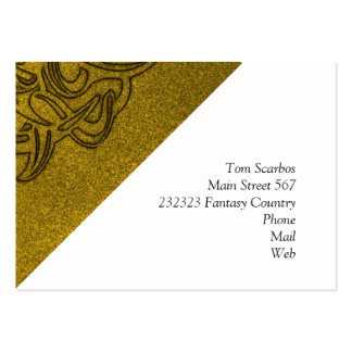 Vicious Tribal Mask golden glimmer 004 Large Business Cards (Pack Of 100)