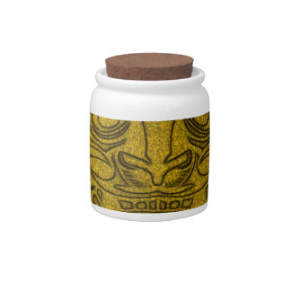 Vicious Tribal Mask, golden glimmer 004 Candy Jar