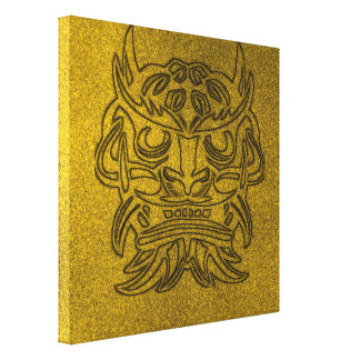 Vicious Tribal Mask golden glimmer 004 Canvas Print