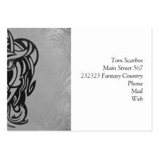 Vicious Tribal Mask silver frosty 007 Large Business Cards (Pack Of 100)