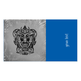 Vicious Tribal Mask silver frosty 007 Double-Sided Standard Business Cards (Pack Of 100)