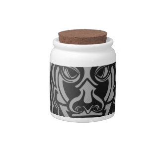 Vicious Tribal Mask silver frosty 007 Candy Dish