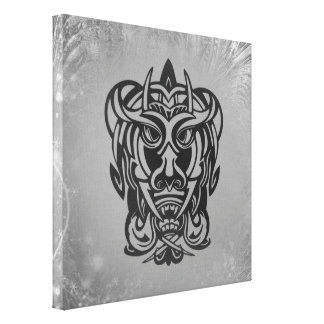 Vicious Tribal Mask silver frosty 007 Canvas Print