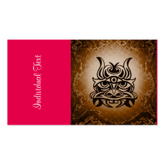 Vicious Tribal Mask Snakeskin 005 Double-Sided Standard Business Cards (Pack Of 100)