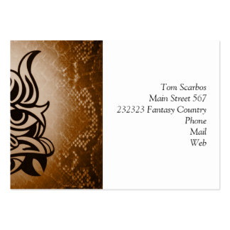 Vicious Tribal Mask Snakeskin 005 Large Business Cards (Pack Of 100)