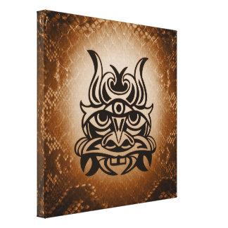 Vicious Tribal Mask Snakeskin 005 Canvas Print