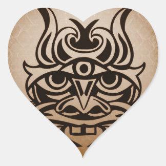 Vicious Tribal Mask ,snakeskin 005 Heart Sticker