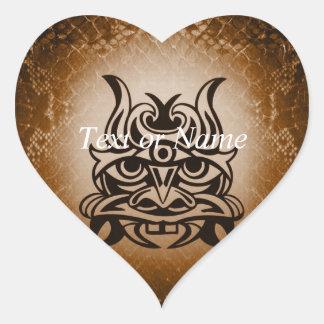 Vicious Tribal Mask Snakeskin 005 Heart Sticker