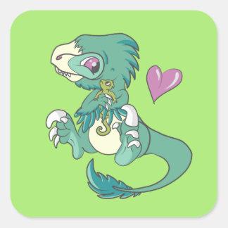 Vicious Velociraptor! Square Sticker