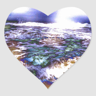 Vicious Waves Heart Sticker
