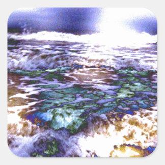 Vicious Waves Square Sticker