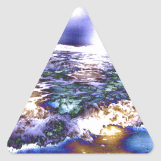 Vicious Waves Triangle Sticker