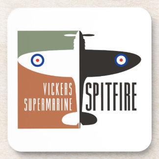 vickers supermarine spitfire beverage coaster