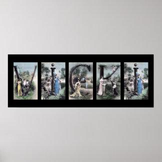 VICKI Alphabet Letter Name Art Poster