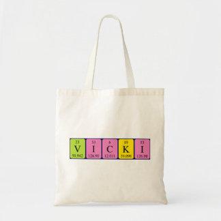 Vicki periodic table name tote bag