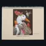 "Vicki Sawyer Art calendar<br><div class=""desc"">Birds and animals with whimsical hats and masks</div>"