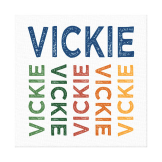 Vickie Cute Colorful Canvas Print
