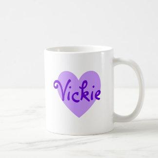 Vickie in Purple Classic White Coffee Mug