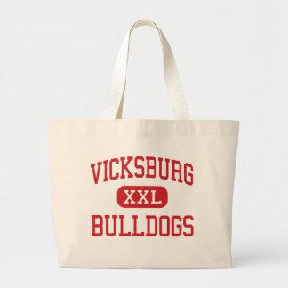 Vicksburg - Bulldogs - Middle - Vicksburg Michigan Tote Bags