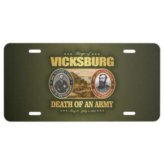 Vicksburg (FH2) License Plate
