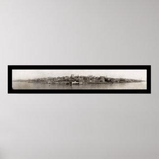 Vicksburg, foto 1910 de Mississippi Póster