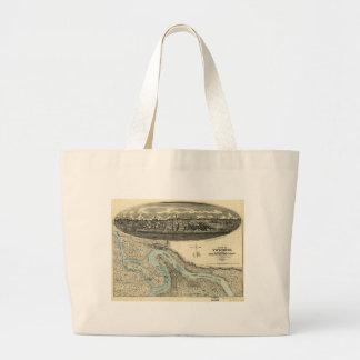 Vicksburg Mississippi 1863 Antique Panoramic Map Bags