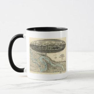 Vicksburg Mississippi 1863 Antique Panoramic Map Mug