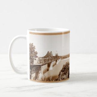 Vicksburg, Mississippi Iron River Bridge Sepia Classic White Coffee Mug