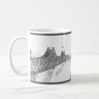 Vicksburg, Mississippi Iron River Bridge Sketch Classic White Coffee Mug